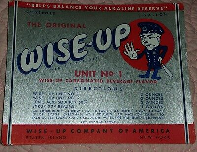 Staten Island NY Wise up soda company Label