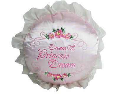 Disney Princess Embroidered Toddler Bed  Decorative Pillow  Girls