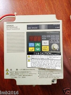 1PC USED Omron inverter 3G3JV-A2022 220V 2.2KW with 60days warranty