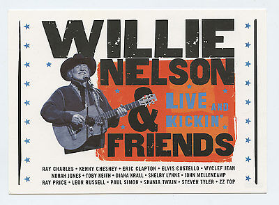 Willie Nelson Postcard 2003 Live and Linkin Album Promotion
