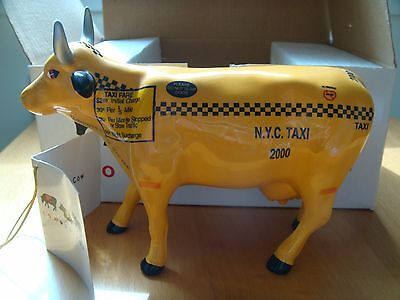 2000 New York Cows On Parade Taxi Cow Mint In Box