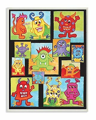 The Kids Room by Stupell Silly Monster Rectangle Wall Plaque