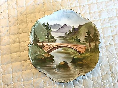 """""""SENA"""" signed Limoges France Handpainted collector/display plate  (552)"""