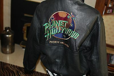 Leather Planet Hollywood (reversible) bomber jacket  Size S (men) L (Ladies)