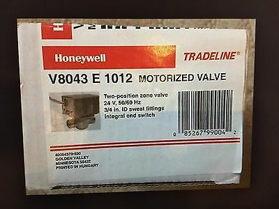 Honeywell V8043E1012 Motorized Zone Valve 3/4 Sweat NIB