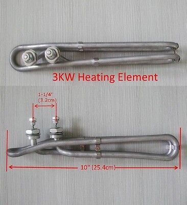 "Hot Tub Spa Heater Element Flo Thru 3KW 240V 10"" for balboa M7 heater,gecko"