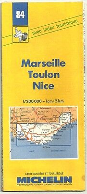"Card Tourist Michelin "" Marseille, Toulon, Nice ""1/200000 - No.84"