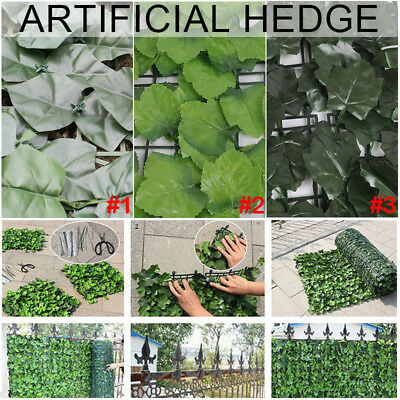 3M x 1M Artificial Ivy Leaf Hedge Panels On Roll Garden Fence Privacy Screening