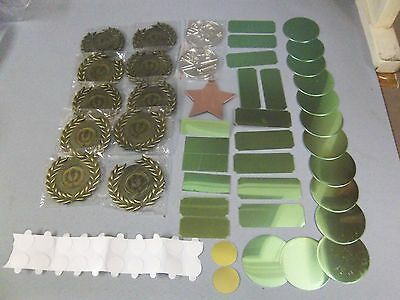 Assorted Pack of Sporting & Games Medals + plaques and discs for engraving etc.