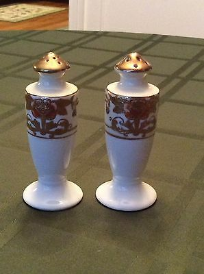 Antique Salt And Pepper Shaker Hand Painted Marked Japan