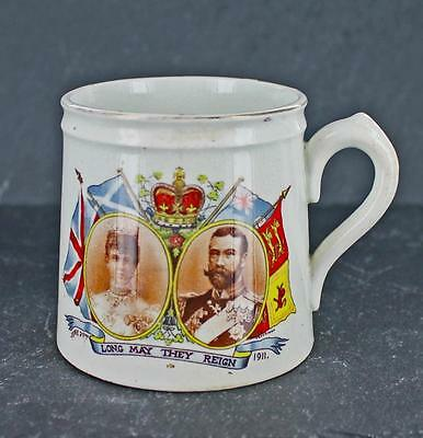 Appealing antique COMMEMORATIVE MUG celebrating CORONATION of GEORGE V in 1911