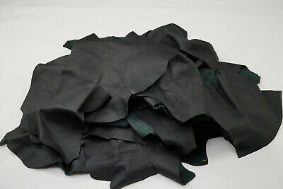 Black leather scraps Upholstery leather pieces 2-3 hands | UV RESISTANT LEATHER