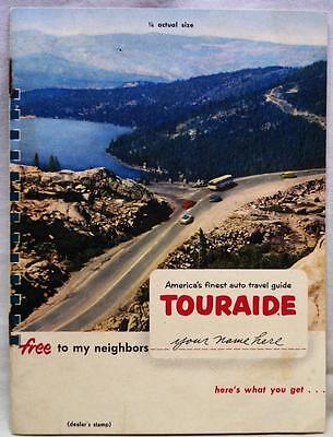 CONOCO TOURAIDE MAP PLANNING SERVICE ADVERTISING BROCHURE GUIDE 1950s VINTAGE