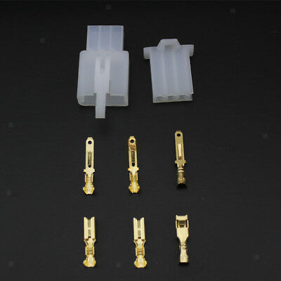Set of Female and Male Connector Plug 3-way 3 pin Electrical Universal 2.8mm