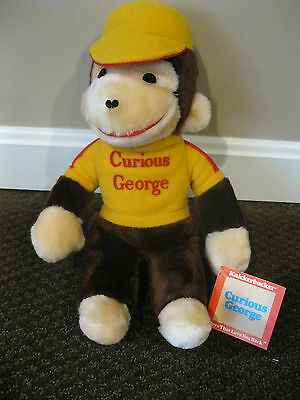 Vintage Curious George Plush Stuffed Animal Toy By Knickerbocker New With Tag