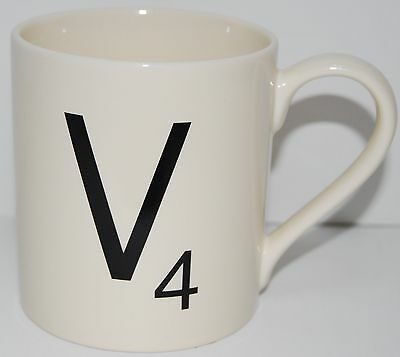 Scrabble Coffee Mug Letter V4 by Wild and Wolf