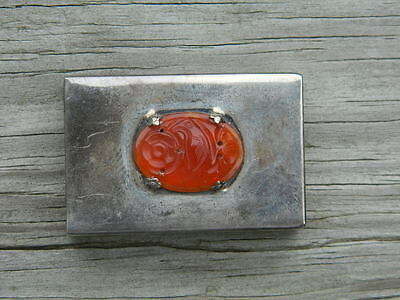 Antique Matchbox; Sterling Silver; From Japan