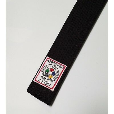 New Official IJF Approved HIKU Judo Black Belt with RED Label 100% Cotton Belt
