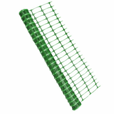 Green Barrier Fencing Plastic Mesh Safety Netting Event Fence 80gsm - 1m x 15m