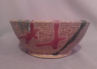 Handcrafted Clay Pottery Bowl * Bicycle Mark * Signed * Jude '05