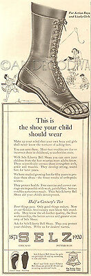 Antique SELZ Children's Liberty Bell SHOE Podiatrist Podiatry Footwear Kids Ad