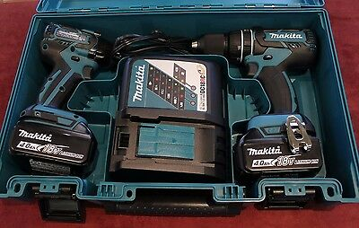 Makita XT248MB 18V LXT Lithium-Ion Brushless 2pc Combo Drill Kit FREE SHIP!