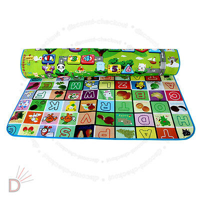 New 2 Side Kids Crawling Educational Game Baby Play Mat Soft Foam Carpet UKDC