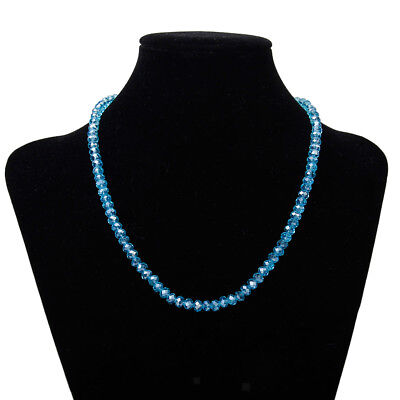 "Faceted Crystal Abacus Glass Rondelle Loose Beads Strand 16.5"" Necklace"
