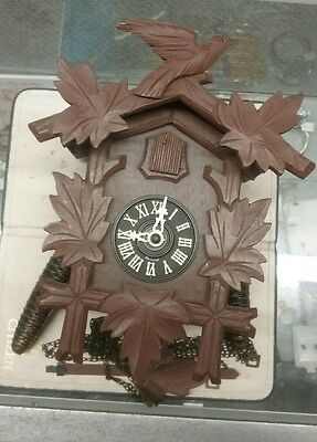 Antique Cuckoo Clock For Parts Or Restoration Does Try To Run With Bellows Out