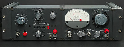 GR General Radio 1232-A Null Detector & 1311-A Audio Oscillator Bench Mount Unit