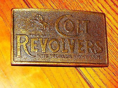 """Colt Revolvers Belt Buckle - Heavy 6.2 Oz. - Handsome - """"the World's Right Arm"""""""
