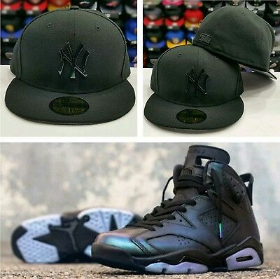 41ebc5283ef Matching New Era Yankee Hologram Metal Badge fitted Hat For Jordan 6 All  Star