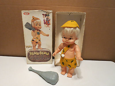 Vintage Flintstones 1964 Ideal Tiny Bamm-Bamm No. 0721-1 Rubble Doll with Box