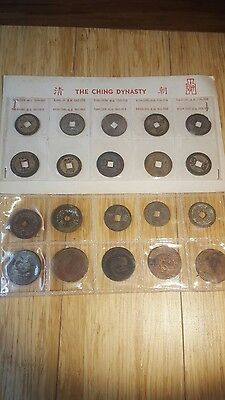 """(20) Old Chinese Cash Coins """"ching Dynasty 1644-1911"""""""