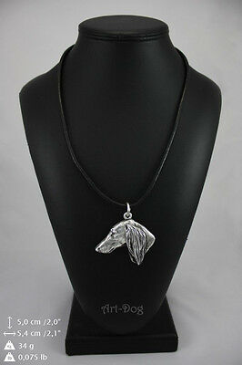 Saluki silver covered necklace, high quality keychain Art Dog