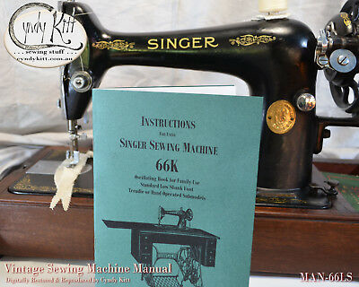 Singer 66K Treadle Manual (Repro)