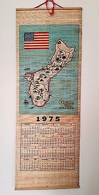 Vintage Guam USA 1975 Wall Calendar, Island Map, Gateway to Micronesia
