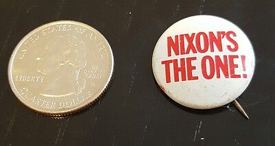 """Nixon's the One!"" 1968 Presidential political Campaign Pin"