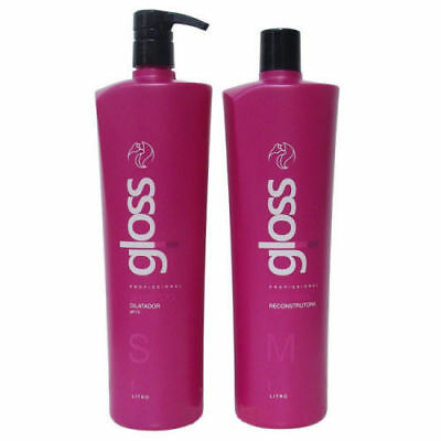 Fox Gloss Keratin Treatment  2x1000ml. Brazilian Hair Progressive 100% Original.