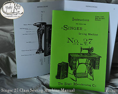 Singer 27-2 Instruction Book (1890s)