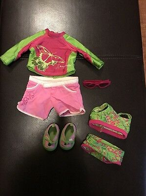 American Girl Doll Jess 2 In 1 Kayak Outfit / Swimsuit Outfits