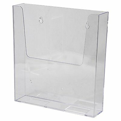 Clear-Ad - LHW-M161 - Clear Acrylic Wall Mount Flyer Holder 8.5 x 11 Pack of 4