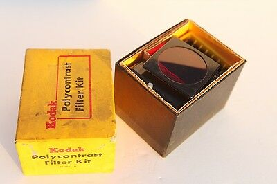 Vintage Kodak Polycontrast Filter Kit Model A Darkroom