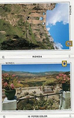 10 Vintage Post Cards Of Ronda Spain Architecture / Attractions