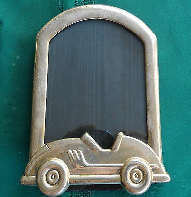 Tiffany & Co. Sterling Silver Baby Picture Frame Car