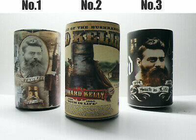 Personalised Quality Stubby Holder - Ned Kelly - can add name if required