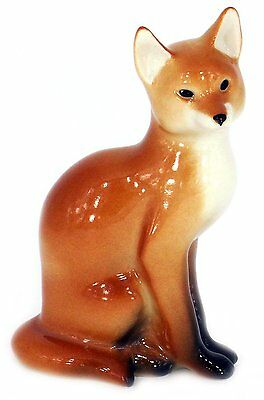 Red Fox Sitting Lomonosov Porcelain Collectible Figurine