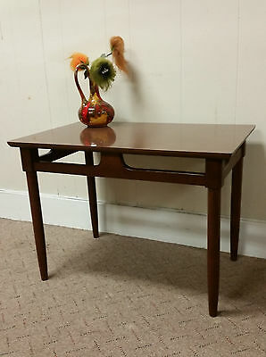 MID CENTURY MODERN SIDE END TABLE STEP VINTAGE NIGHTSTAND livingroom