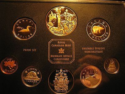"""Canada 2002 Proof Set Golden Jubilee - Special Edition """"Gold Plated Dollar"""""""
