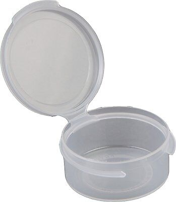 Consolidated Plastics 1/2oz Hinged Lid Vial Poly-Con Container in Clear Package